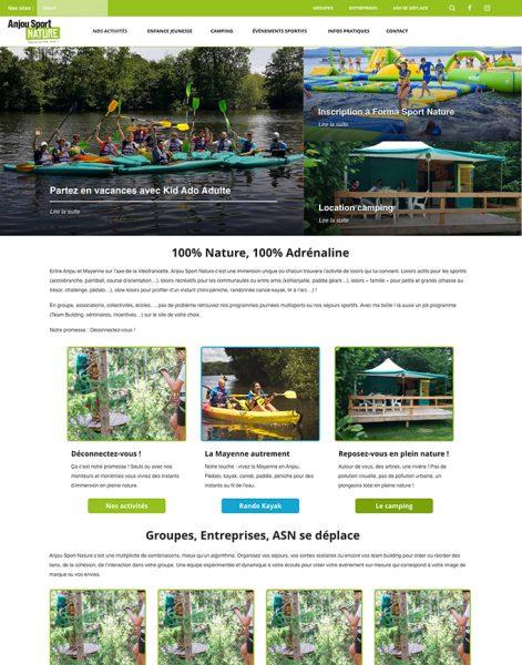 anjou sport nature webdesign