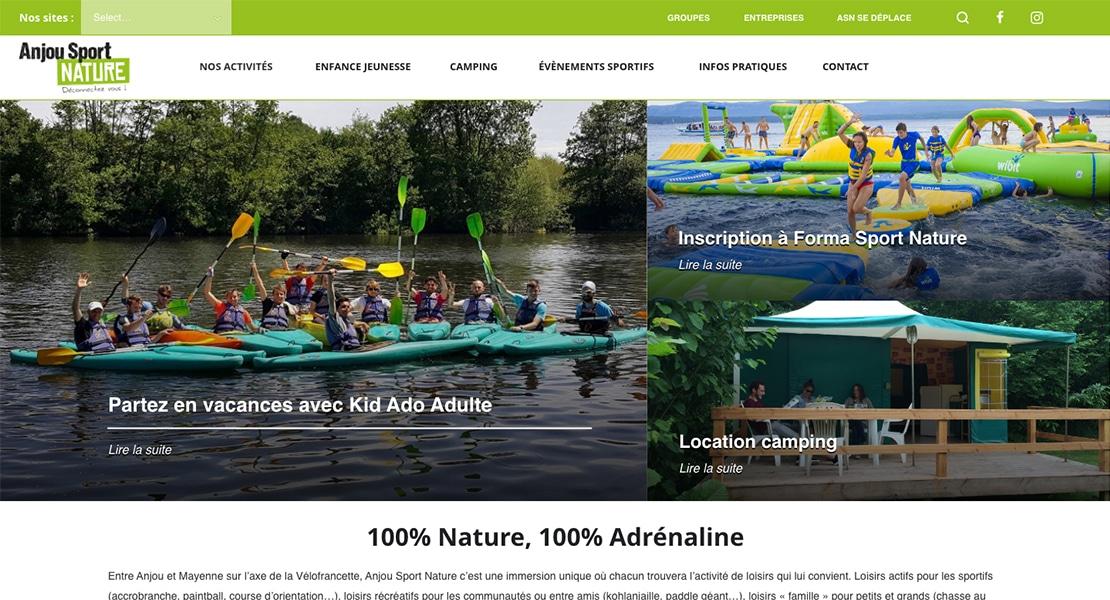 anjou sport nature home webdesign